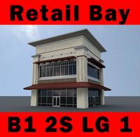 3d building b1 2s 2-story model