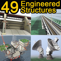 49 engineered structures 3d model