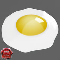 3d fried egg
