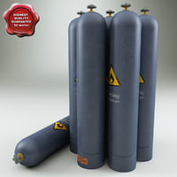 lwo helium gas cylinder