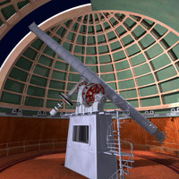 3d model lick observatory telescopes