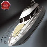 motor yacht prestige 46 3d 3ds
