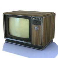 retro tv 09 3d model