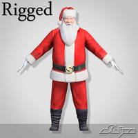 Santa Claus (Biped Rigged)