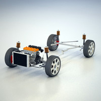 wheel drive suspension 3d model