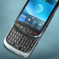 blackberry torch 9800 3d obj