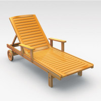 3d chaise lounge model