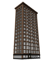 chicago bank 3d model