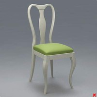 chair old fashioned 3d model