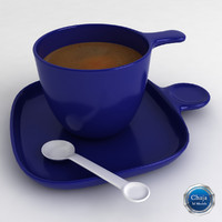 3d model cup coffe coffee