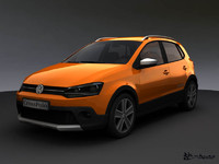 volkswagen crosspolo 2010 3d model