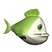 Green Fish Character