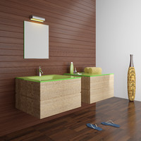 kadras kf-1809 wash-basin bathroom accessories 3d model