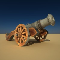 3d model old cannon