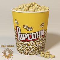 3d bowl corns model