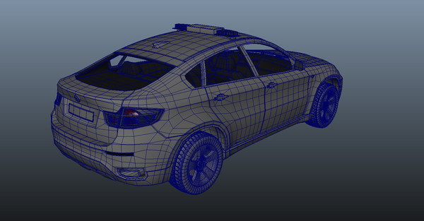 maya mapped quad polys - BMW x6... by DevinBekins