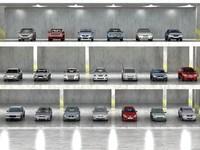 20 sedans 3d model