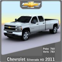 2011 chevrolet silverado hd 3d max