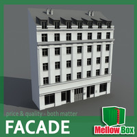 3ds max city house facade