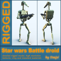 Battle droid + blaster RIGGED