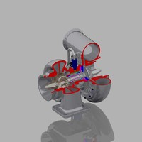 turbocharger 3d model