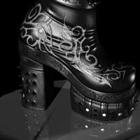 3d warrior boots designed