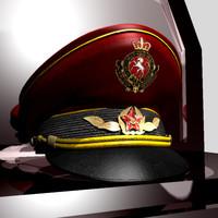 3d model general hat