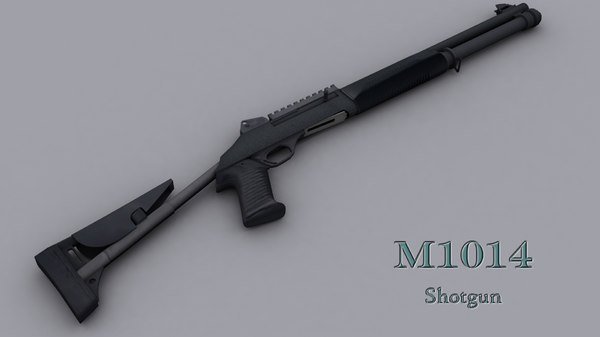 3d model shotgun m1014 - M1014... by mimi3d