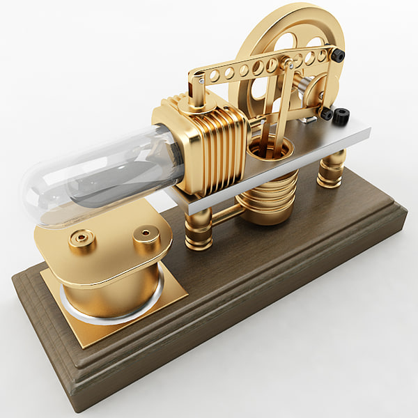 robinson stirling engine 3d model - Stirling Engine... by Plutonius3d