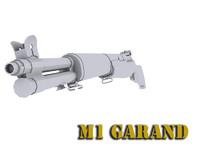 m1 garand 3d model