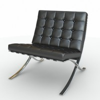 3d model knoll barcelona chair