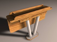 Sailing boat saloon table