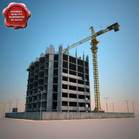 3d building construction v2 model