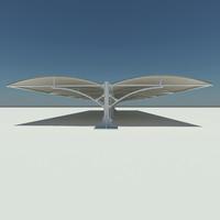car canopy 3d model