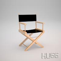 3d model director chair