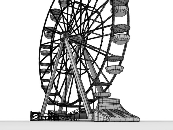 obj ferris wheel - Ferris Wheel... by BigBlueAnimations