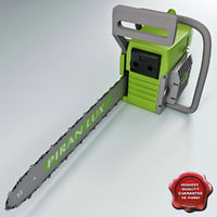 3d gas chain saw piran model