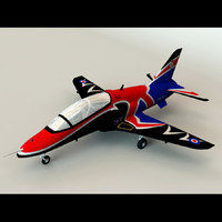 british hawk t1a aircraft 3d model