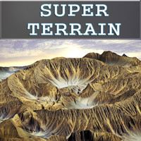 3d crater terrain landscapes model