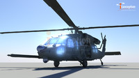 3d blackhawk helicopter