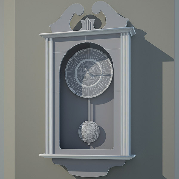 wall clock 3d obj - Wall clock... by Makhota