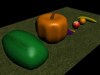 Vegetables and Fruits Pack Low Poly