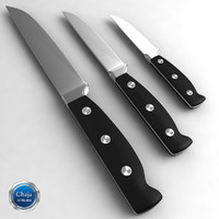 3d model kitchen knife