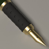 luxury pen 3d model