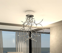 3dsmax contemporary chandelier