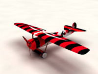 3d model of fokker d1