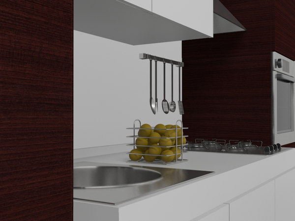3d model kitchen set - kitchen set... by jasenkad