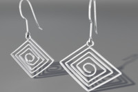 3d model silver earrings