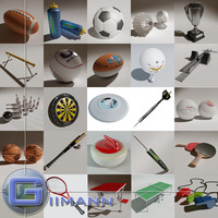 sports equipment 3d 3ds