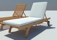 wooden loungers 3d model